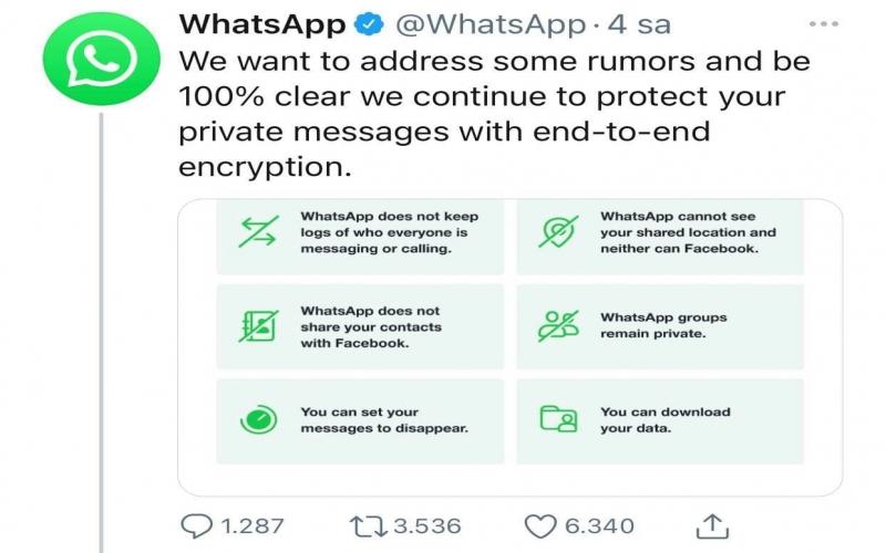 """""""WhatsApp"""" şəxsi mesajların izləməyəcəyinə dair zəmanət verdi"""