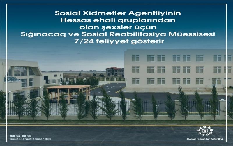 Son iki gündə Sığınacaq və Sosial Reabilitasiya Müəssisəsinə 6 nəfər yerləşdirilib