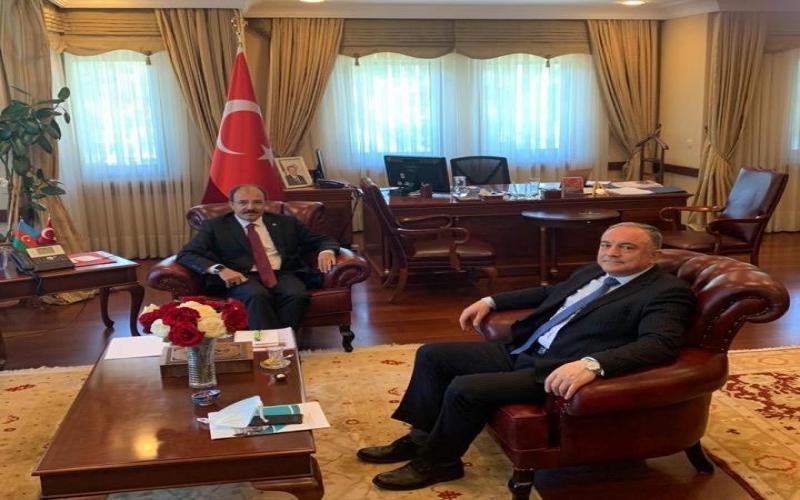 AzTU-nun rektoru Türkiyənin Azərbaycandakı yeni səfiri ilə görüşüb