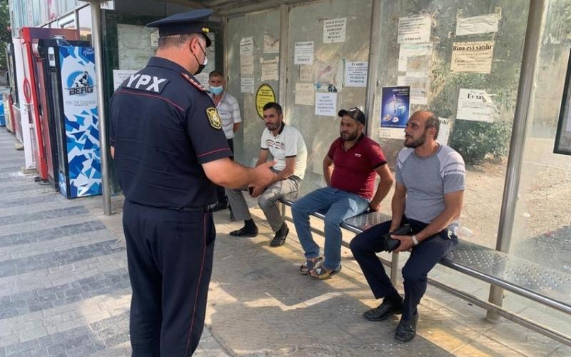 Polis Siyəzəndə reyd keçirib:  Maska taxmayanlar cərimələndi